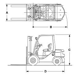 Toyota 8FDN/FGN Series IC Engine Forklift   Toyota Engine Forklift